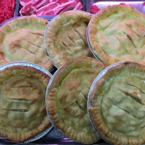Large cheese n onion pies
