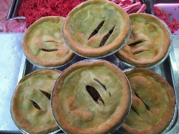 Large meat n potato pies